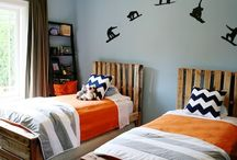 My Two Sons / Miscellaneous ideas for boys including room decor, activities, apparel, etc.  / by Holly Kruger