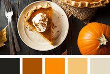Food photography color palette