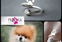 hudoca design dog , cat ,  paw rings / sterling silver cute rings  #cat #dog #paw www.hudoca.com