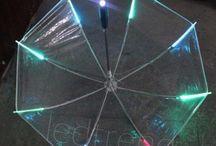 Paraply med LED-lys