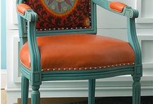 chairs- upholstered and painted / by Kim Rowland (Today is My Someday)