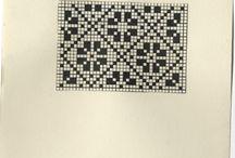strikk flerfarger mønster