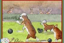 The Corgi (Olympic) Games / Of course, the Queen's Jubilee AND the London Olympics in the same year begs for combination - hence - The Corgi Games - in which Welsh Corgi dogs engage in various forms of sport (including sack racing) in their usual stylish and winning way. In rhyme. Natch.