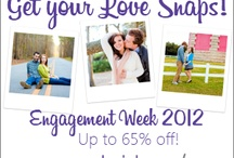 """Love Snaps / Cute """"Love Snaps"""" (Engagement Photos) from Engagement Week at BrideRush.com!"""