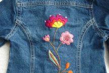 broderies sur veste jeans