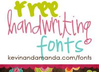 to font / by Joanna Clayton