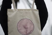 boob embroided tote bag