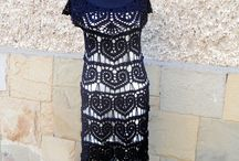 Black dress -crochet