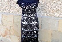 Black dress -crochet