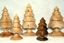 Turned Wooden Ornaments