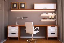 Prateleiras flutuantes escritorio