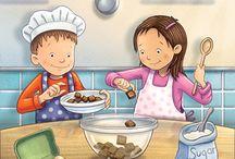 dzieci pieka ciasto