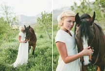 Bride On A Horse Inspiration / I am photographing a bride this weekend who is riding in on a horse! So I made this board for some inspiration. I'll post my pics once I have them!