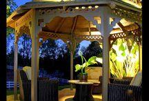 Gazebo lighting in Orange County CA / Landscape lighting for gazebos