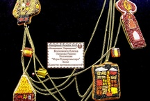 """MY WORK. Collection """"Playing Hundertwasser"""" / The collection was established in 2012. Has been shown in international exhibitions: """"Bead Design 2012"""" (Moscow) and """"Colors of Soul"""" in 2012 (Minsk, Belarus)"""