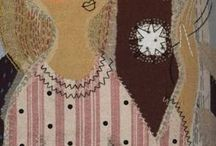 Random textiles and fiber work / Not quilts or knitting.