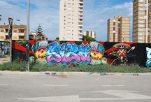 Santiago Grafitti / Graffiti around the town of Santiago de la Ribera Murcia Spain.