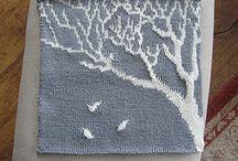 Intarsia knit / Intarsia chart, intarsia pattern.