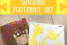 Handprint & Footprint Art Projects / Adorable footprint and handprint art projects for kids! #handprintart #footprintart #handprintpainting #footprintpainting