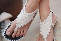 Crochet sandles and slippers