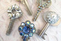 Keys and earrings