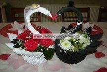 Esküvő dekoráció/Wedding decorations / origami dekoráció/decorations