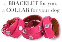 Matching Collars for Your Dog / Make it a matched set to show the forever connection - a bracelet for you and a coordinating collar for your dog - in 3 styles!  See our collars at https://zeldassong.com/collections/matching-dog-collars-and-bracelets