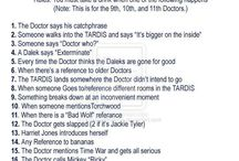 An ACTUAL Doctor Who party. Try not to get distracted this time...