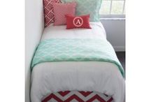 Decorating Your College Dorm Room Ideas / DIY Dorm Room Decorating and Custom Dorm Bedding and Décor Unite.  Custom extended bed skirts, dorm headboards, dorm wall monograms, dorm window panels all coordinated to give you the look and feel of HOME! / by Decor 2 Ur Door Bedding