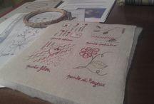 Mon cahier de broderie/ SAL de Covi Castañón / Le mie pagine