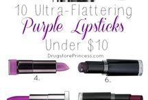 paars kleur lipstift/gloss
