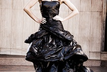 Plastic dress fashion