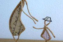 Art ficelle et papier