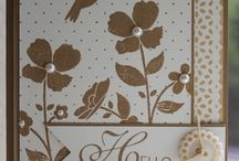 SU Wildflower Meadow / Cards made with the Stampin' Up! stamp set Wildflower Meadow and/or the Wildflower Meadow Embossing Folder. #stampinup #cardmaking #handmade / by Jessica Taylor