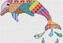 Cross stitch ~ Patchwork designs.
