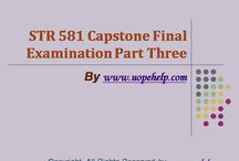 STR 581 Capstone Final Examination Part Three Latest Assignment