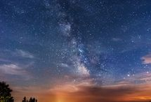 Astronomy / Pleasant sky and nature