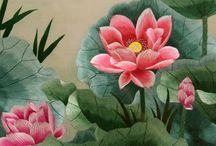 Chinese Silk Embroideries / Silk embroidery is a Chinese art form with origins dating back thousands of years. With each piece containing thousands of tiny threads, a composition requires an extremely high level of skill to create.