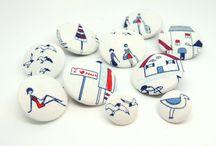 Handgefertigte Knöpfe / Selbst hergestellte Knöpfe. Handcrafted Buttons.