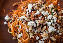Roasted carrot feta salad