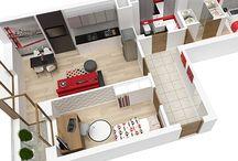 Schematy mieszkań 3D