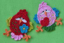 crochet-aplikációk,alátétek