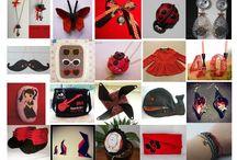 Février 2015: le rouge et le noir / Thème de février: rouge et noir
