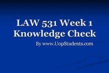 LAW 531 Week 1 Knowledge Check