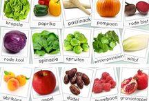 Groeten en fruit kalender