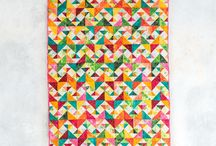 Quilts - half square triangle