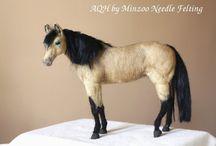 needle felted horse,donkey,zebra
