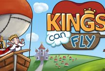 Kings Can Fly / A beautiful and fun puzzle game with over 60 levels set in a kingdom above the clouds. Kings Can Fly will soon have your brain sweating as you try to fly the King through his maze-like kingdom. You need a good eye and sharp wits to navigate the towering mountains, spiked gates and dangerous whirlwinds you encounter on the way.