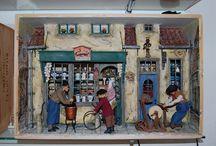 gefüllte Weinkisten / Miniaturbild nach Anton Pieck