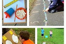maths outdoors activities